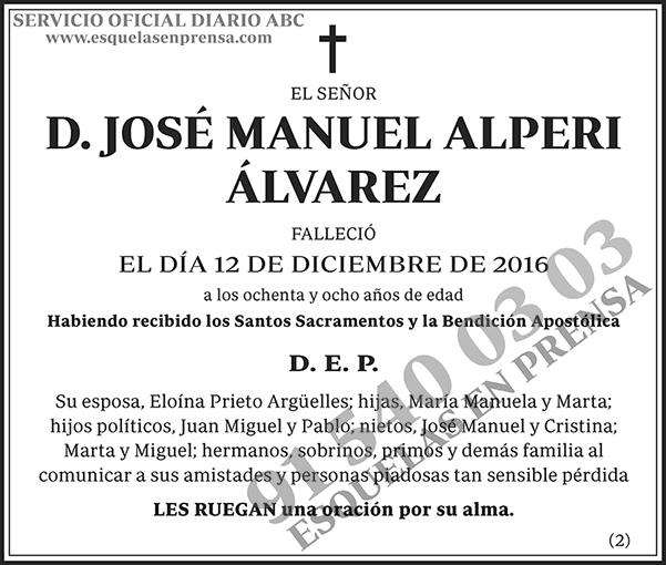 José Manuel Alperi Álvarez